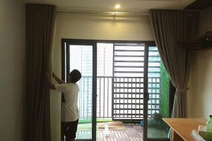 Rèm cửa hoàn thiện cho căn hộ the Two Gamuda